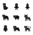 farm zoo ecology and other web icon in black vector image vector image