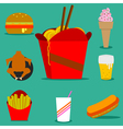 fast food2 vector image vector image