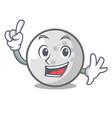 finger golf ball mascot cartoon vector image