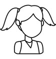 girl faceless cartoon vector image vector image