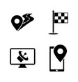 gps simple related icons vector image