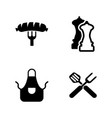 grilling simple related icons vector image vector image