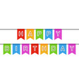 happy birthday sign vector image vector image