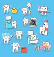 healthy teeth care treatment and hygiene cartoon vector image vector image