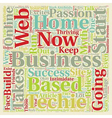 Home Based Business Myths That You Must Overcome vector image vector image