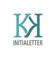 initial letter kk logo concept design symbol vector image vector image