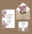 invitation for the wedding card with vector image vector image