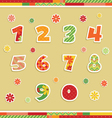 Isolated number stickers vector image vector image