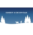 Landscape of Merry Christmas winter vector image vector image