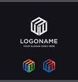 letter w logo letter e logo icon template vector image vector image
