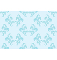 light blue floral seamless background vector image