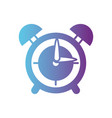 line round clock alarm object design vector image vector image