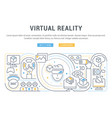 linear banner virtual reality vector image