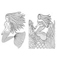 mermaid set 2 vector image vector image
