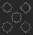 minimal hipster monogram frames set mockup vector image vector image