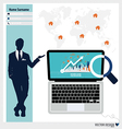 Modern Laptop Business working elements for web vector image vector image
