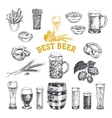 Octoberfest set Beer products vector image vector image