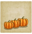 old background with pumpkins vector image