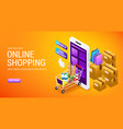 online shopping order delivery service internet vector image