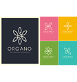 Organic Beauty Cosmetic Leaves Logo vector image