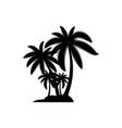 palm tree summer logo template vector image