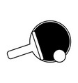 ping pong paddle sport icon image vector image vector image