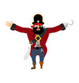 pirate happy filibuster merry buccaneer cheerful vector image