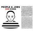 prisoner icon with bonus vector image