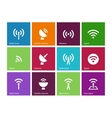 Radio Tower icons on color background vector image vector image