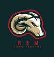 ram mascot logo vector image