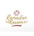 Ramadan Kareem greeting typographic design vector image vector image