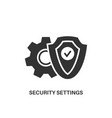 security settings icon vector image vector image