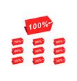 set 10 10 20 30 40 50 60 70 80 90 100 discount vector image vector image