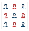 Set color icons of people vector image vector image