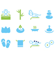 Set of icons for spa wellness and massage