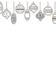 set of of christmas bauble vector image