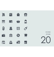 Set of store icons vector image vector image