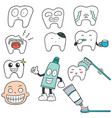 set of teeth vector image