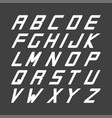 sport font english simple alphabet vector image vector image