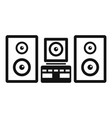 stereo system icon simple style vector image
