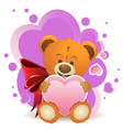 Teddy Bear with Heart2 vector image vector image