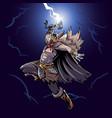 thor god thunder vector image