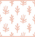 trees shapes seamless pattern vector image