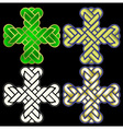 twisted Christian Holy cross vector image vector image