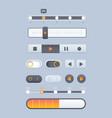 web sliders online pages ui navigation elements vector image