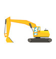 yellow excavator heavy industrial machinery vector image vector image