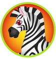Zebra cartoon vector image vector image