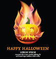 Happy Halloween background with pumpkin and place vector image