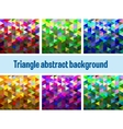 Multicolor triangular vector image