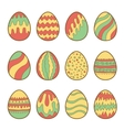 Set of painted easter eggs vector image